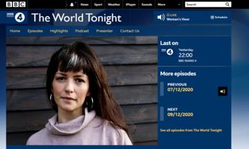 BBC | The World Tonight - Martha Newson_2020.12.08